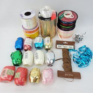 Destash Lot Curling Gift Wrapping Ribbon New&Used